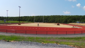 work on the DeConto Memorial Stadium