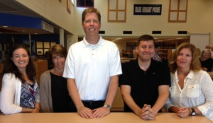 Mr. Watson with some of the other  SHS department heads. (for scale.)