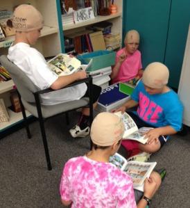 Bald - kids reading