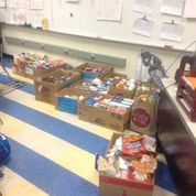 We were amazed at the amount of donations that were collected in just one week.