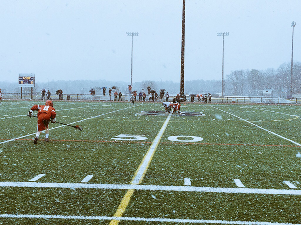 Lacrosse Game in Snow #2- Sat March 28