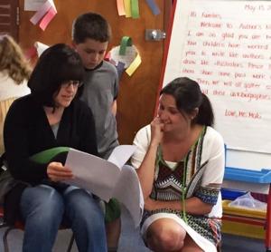 Mom and teacher appreciating the author's craft!