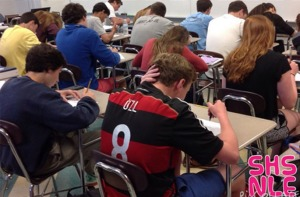 SHS Students taking the National Latin Exam.