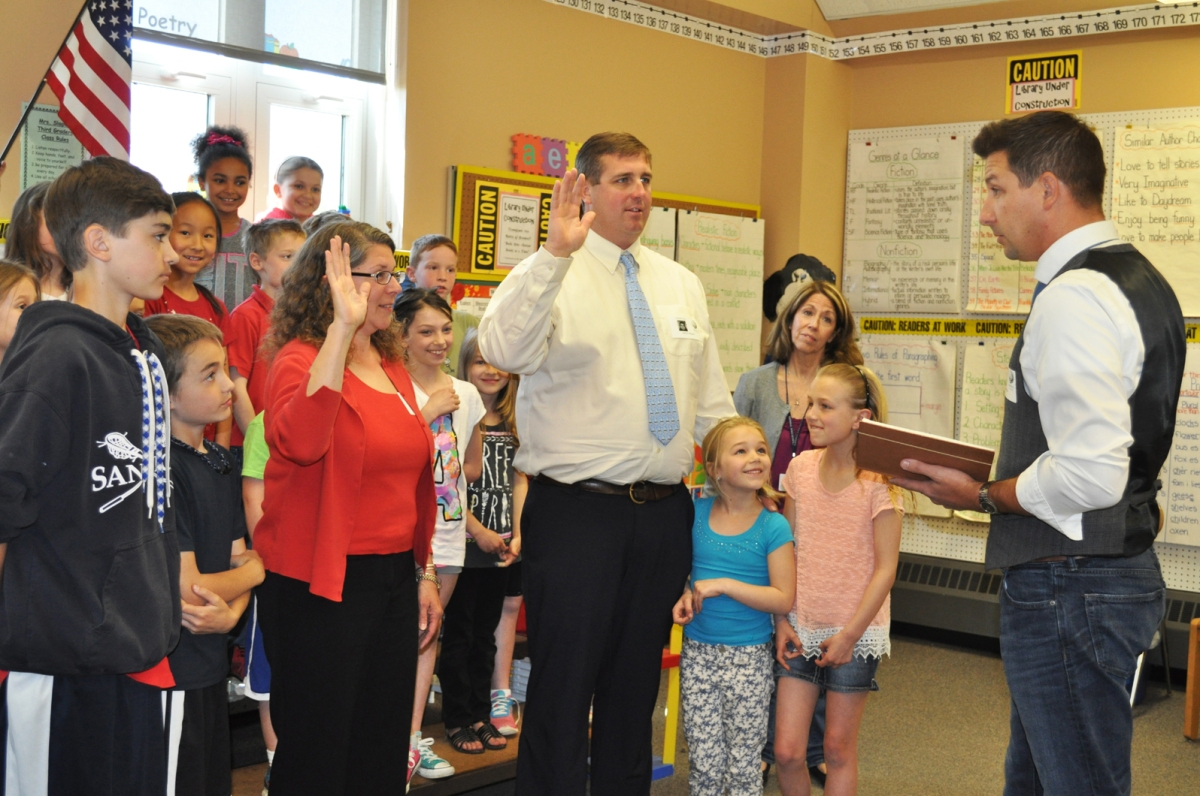 New School Committee Members Sworn in at Forestdale!