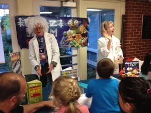 Last year, Mr. Parsons and Mrs. Johnson were MAD SCIENTISTS conjuring up some SUMMER READING FUN!  Who will they be this year?