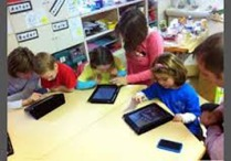 preschoolers with tablets