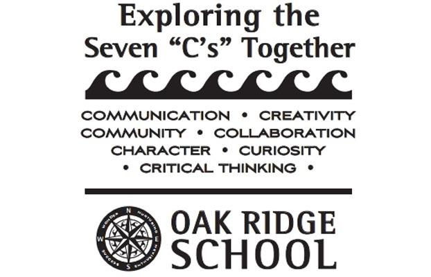 Exploring the 7 C's at the Oak Ridge School
