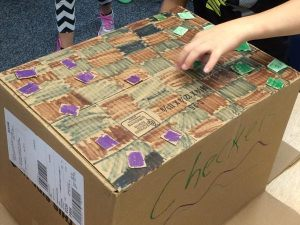 In their 7 C's class over the past couple of weeks, students have had opportunities to be creative with cardboard!