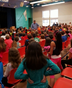 Students were on their feet as Mr. Connolly worked the crowd!