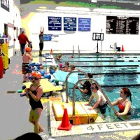 Opening Day for Swim Lessons at the Sandwich Pool!