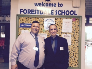 Assistant Principal Chris Dintino and Principal Marc Smith