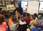 Mrs. White read a book to her class about all different sorts of eggs