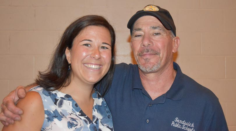 Doug Hill with his very proud daughter, 4th grade teacher Stephanie Handrahan.