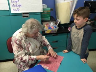 Mary & Quilt-making #1