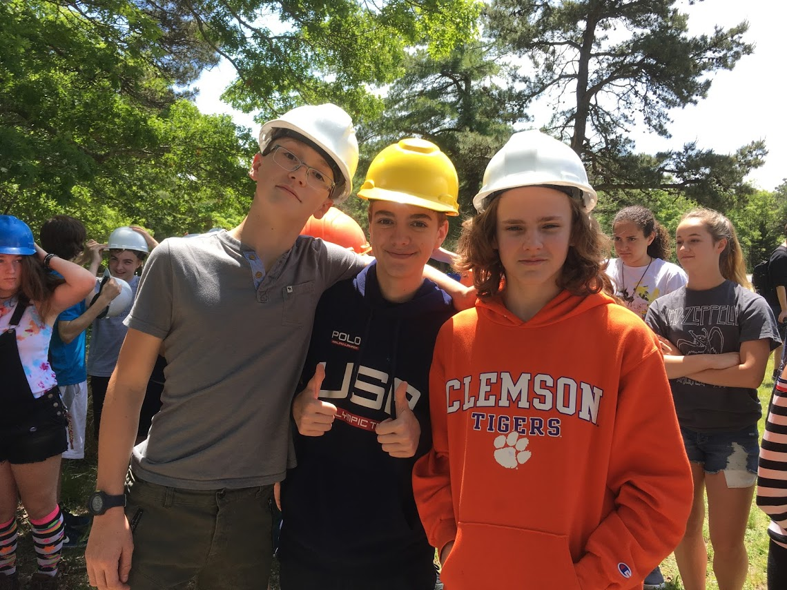 students in hard hats #2