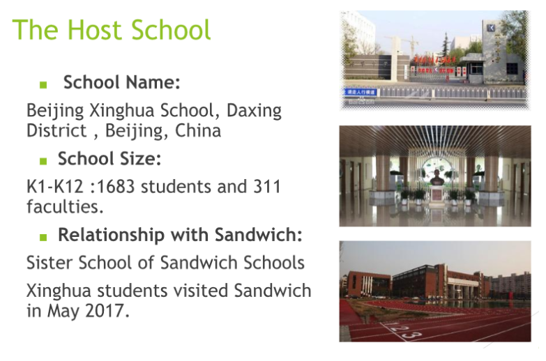 Sandwich Students to Visit China over April Vacation